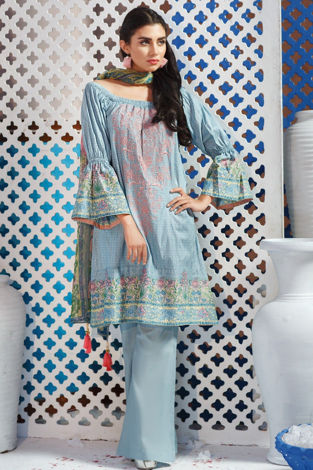 Khaadi Lawn Chiffon Eid Dresses Designs Collection 2018 2019
