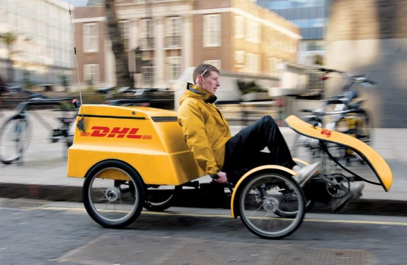 Dhl Cargo Delivery Quadcycle Bicycle Cargo Bike