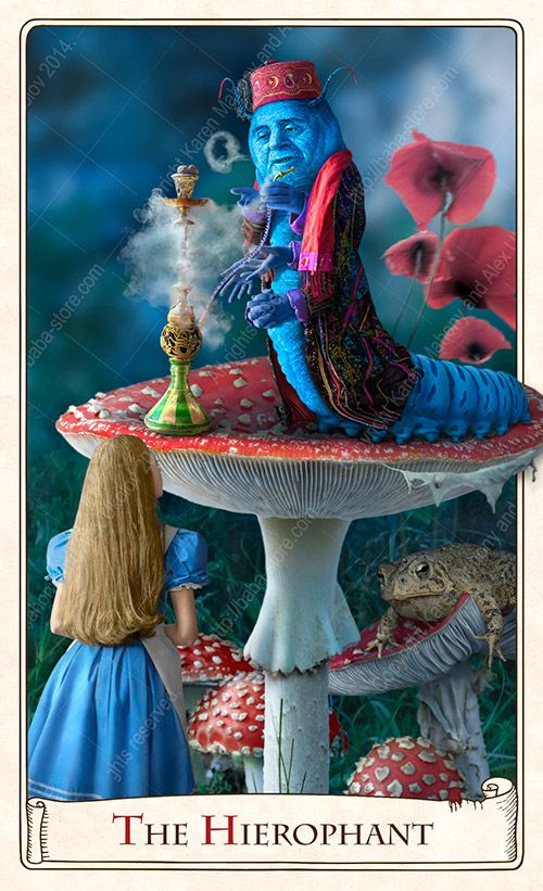 Baba Studio Design Hierophant Card From The Alice Tarot