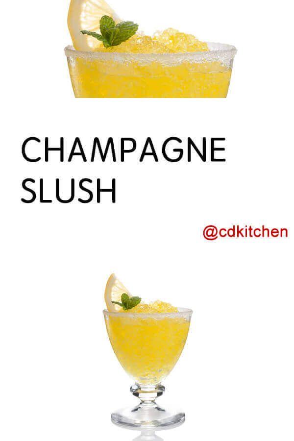 Champagne Slush Recipe | CDKitchen.com #frozenlemonade