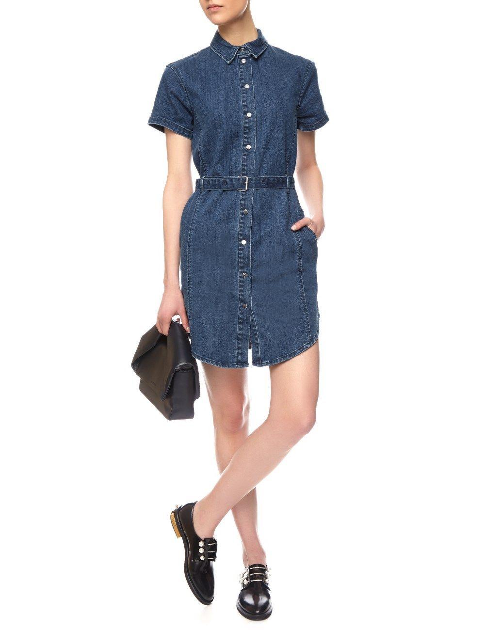c0c9d9edaa Blue Denim Belted Dress