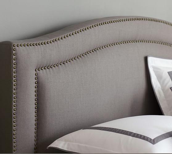 Tamsen Curved Upholstered Bed Headboards For Beds Bedroom