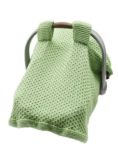 Knitted Car Seat Cover Knit Patterns Instruction Dot Moss Stitch