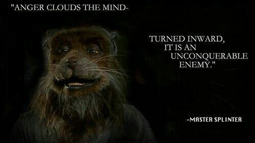 Master splinter in other words do not hold onto, or be