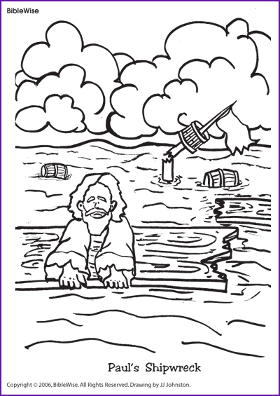 Coloring Pauls Shipwreck