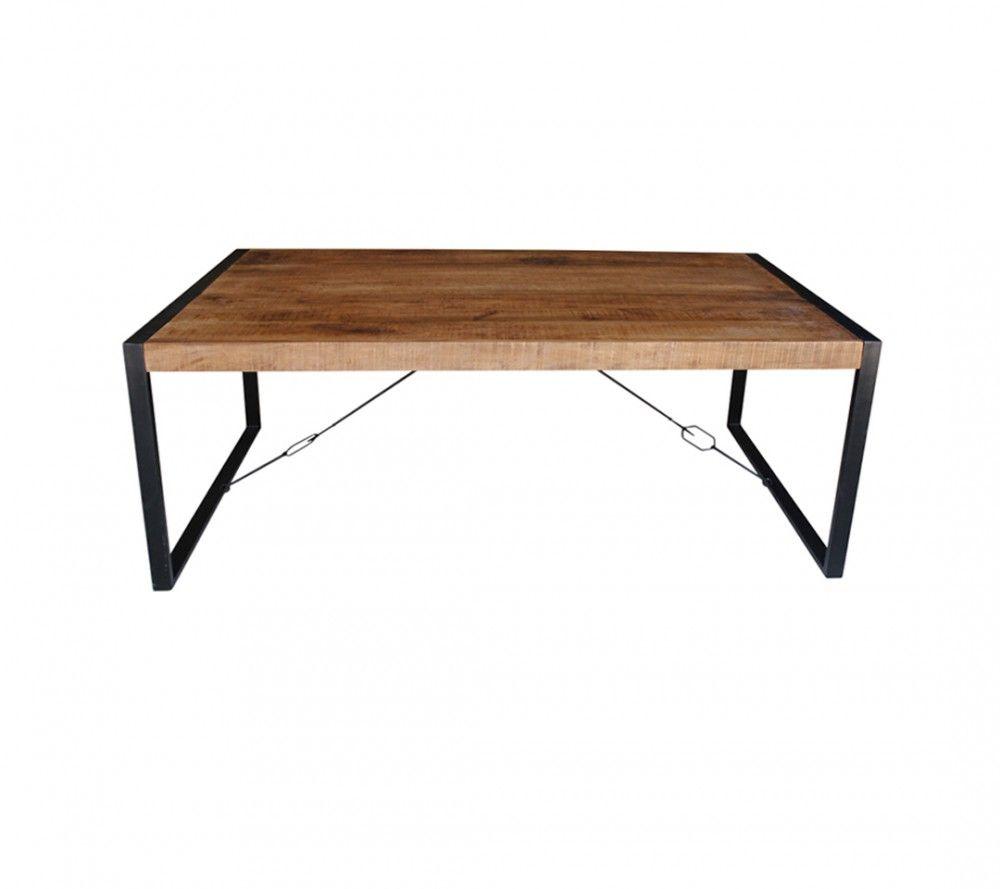 Esstisch Industriedesign Tisch Metall Holz Breite 160 Cm New