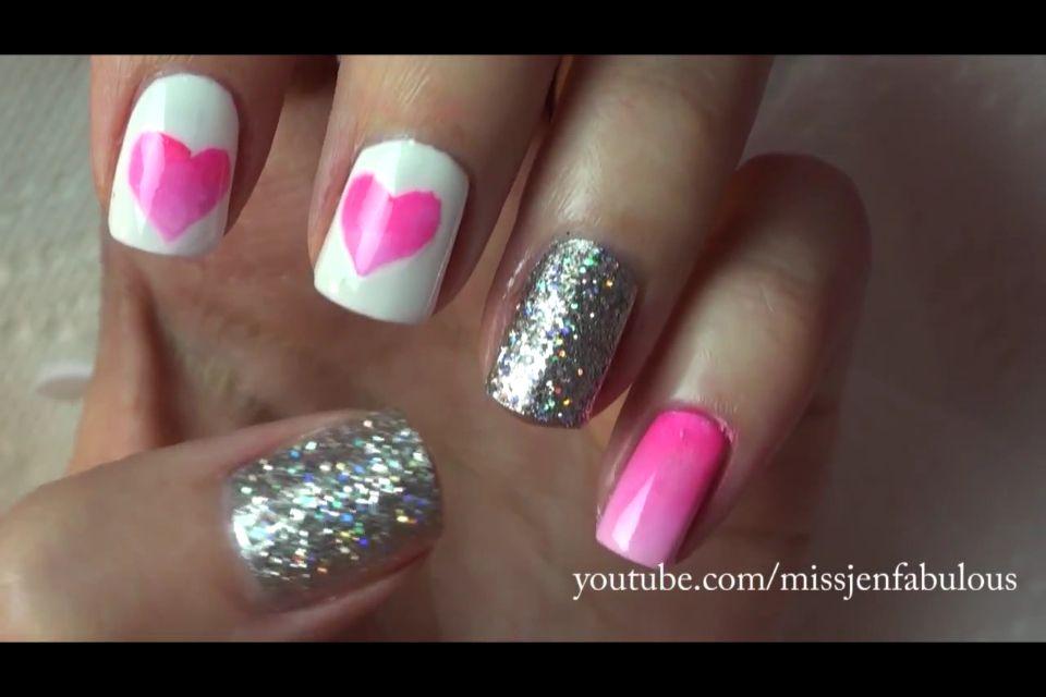 MissJenFabulous Valentines nails | hair,make up and nails | Pinterest