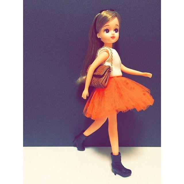 今日は、レースアップブーツをポイントにクールにきめたよ!  Today's  my favorite item are lace up boots !  boots & bag : #スパークルアイズ #sparkleeyes  #リカビジュー着回しデイズ #liccabijou #リカビジューシリーズ #リカビジュー #タカラトミー #リカちゃん #licca #liccadoll #japanesedoll #ootd