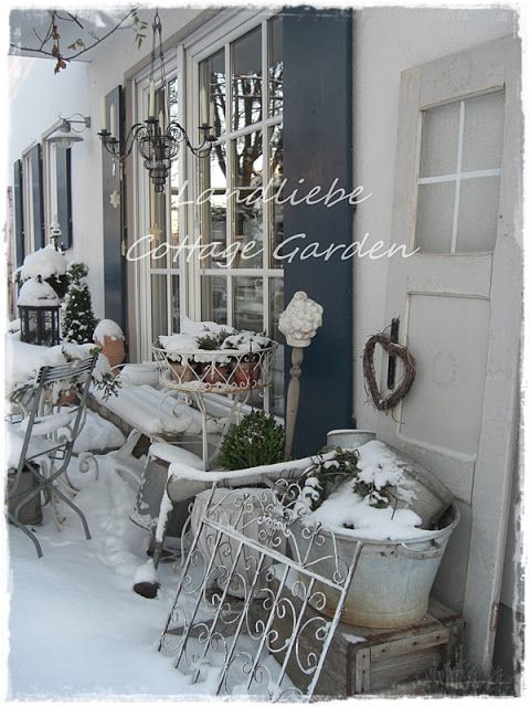 l a n d l i e b e cottage garden garten im winter. Black Bedroom Furniture Sets. Home Design Ideas