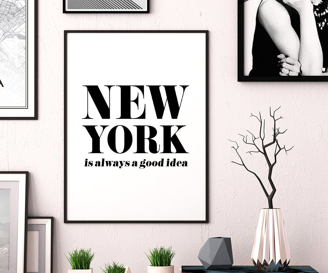 Typography, Wall Art Print Poster Home Decor Motivational Quotes