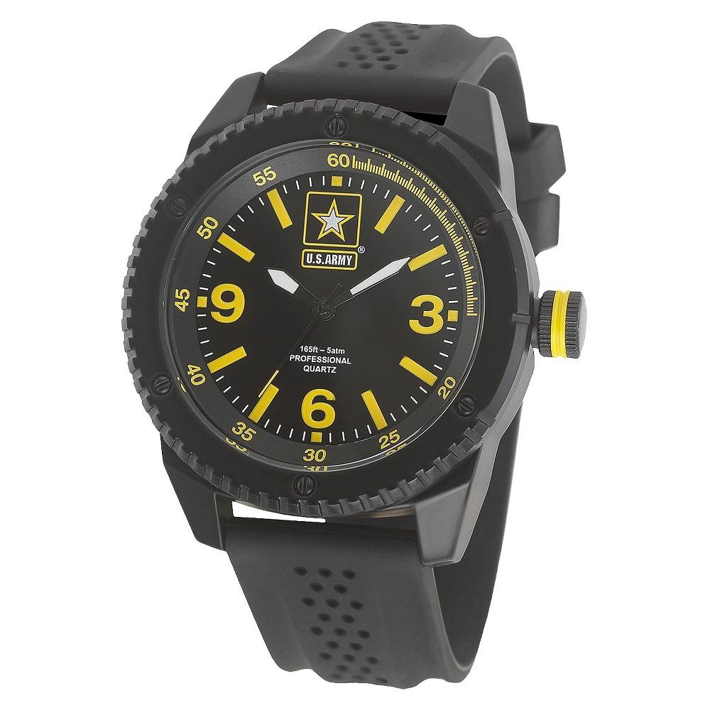 Mens' Wrist Armor U.S. Army Analog Quartz Watch - Black, Men's, Size: Small