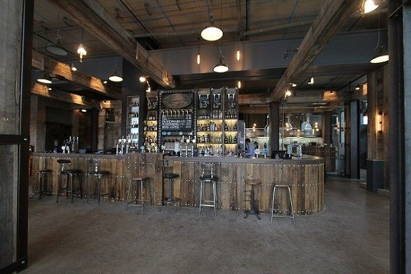 Modern industrial bar google search almost famous for Modern coffee bar design