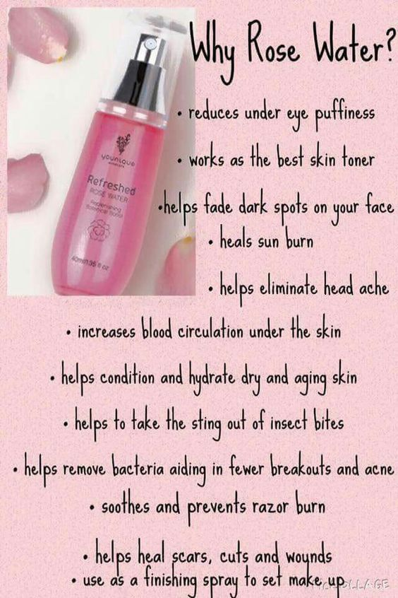 Rose Water Is So Good For Your Skin Plus You Can Use It On Your Hair As A Conditioner Rosewater Beauty Skin Uses For Rose Water Younique Beauty Skin Care