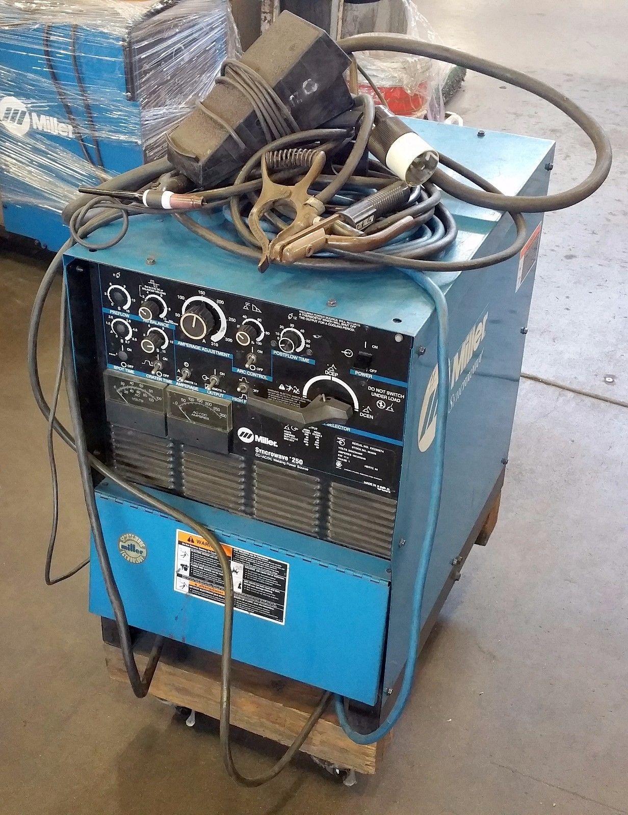 medium resolution of miller syncrowave 250 tig stick welder
