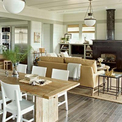 open floor plan, floors, ceiling