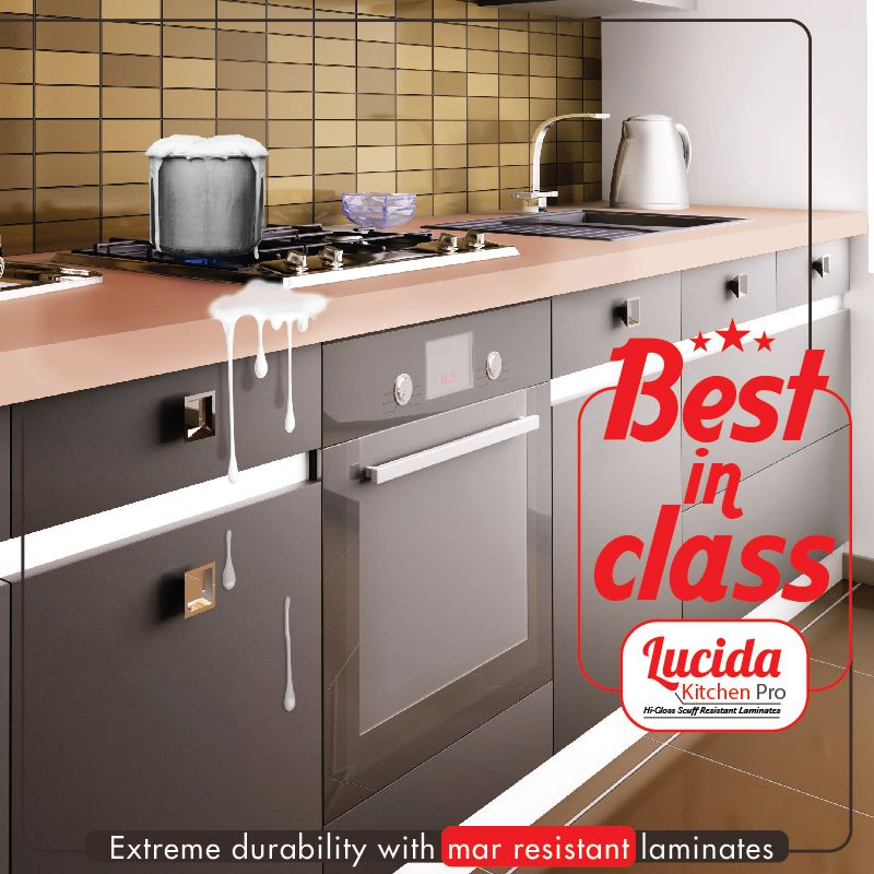 #Lucida #KitchenPro #Laminates Are Mar Resistant . #CenturyLaminates  #BestInClass