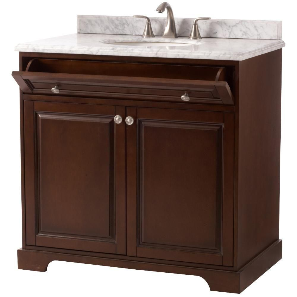 Home Decorators Collection Highclere 36 Inw X 22 Ind Vanity In Impressive White Bathroom Vanity Home Depot Decorating Inspiration