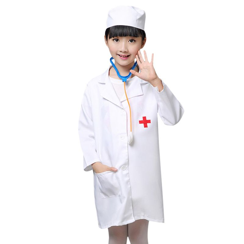 Click to Buy    Children Halloween Cosplay Costume Kids Doctor Costume  Nurse Uniform ea77d4c8b9d45