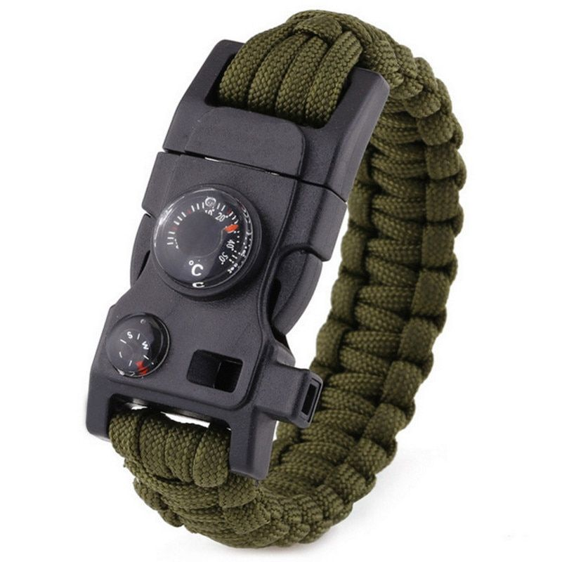 Handmade Woven Paracord Men Bracelet Multi Function Survival Rope