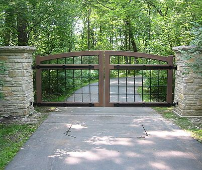 Chicago Driveway Gates Custom Metal Fabrication Horse