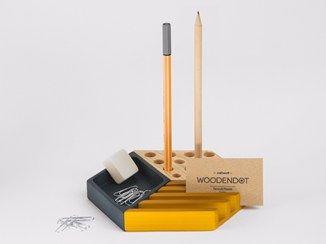 Portalápices / organizador de escritorio de pino KESITO - Woodendot
