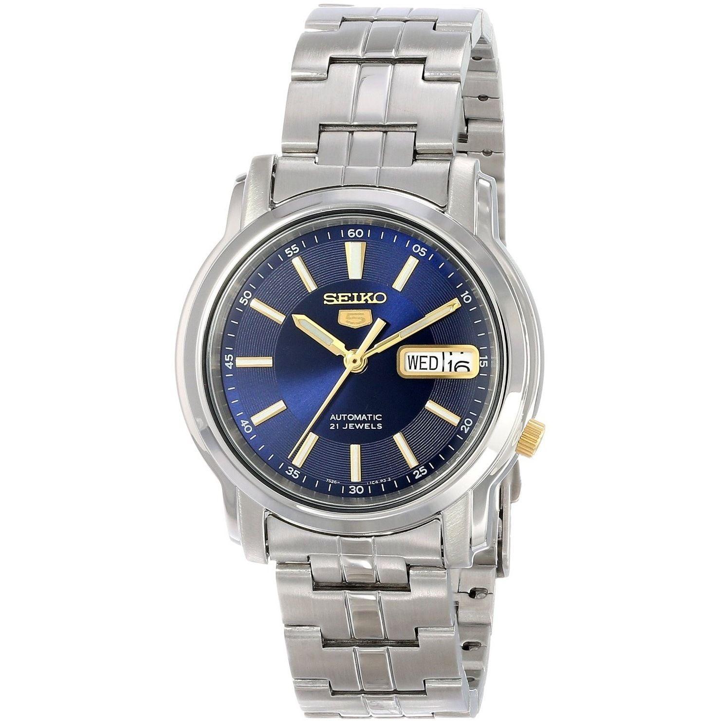 seiko men s 5 silvertone watch snkl79k1 by international bag seiko men s 5 silvertone watch snkl79k1 overstock shopping big discounts on seiko men s watches