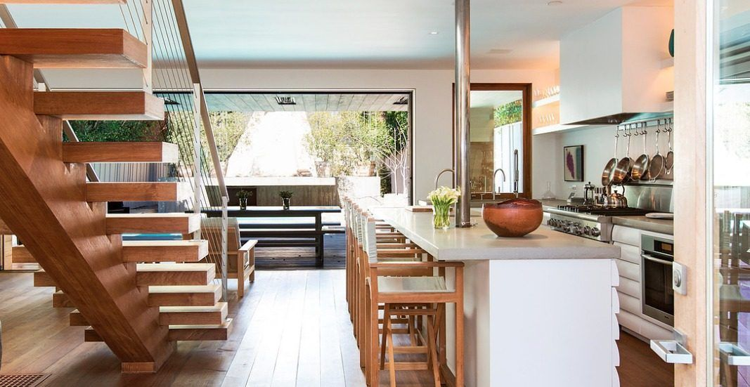Stairs and wood panelled roof of terrace Home Decor Pinterest