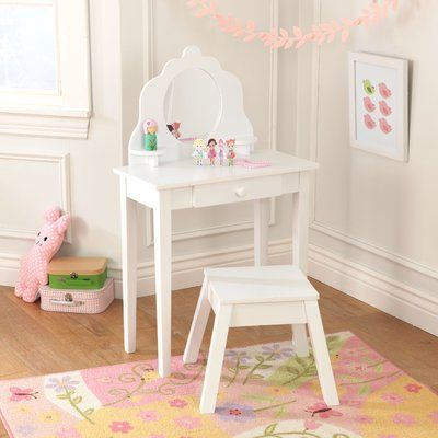 Kidkraft Diva 2 Piece Vanity Set With Mirror Color White In 2019