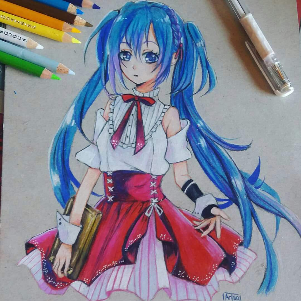Anime Colored Pencil Google Search In 2020 Colorful Drawings Anime Drawings Sketches Anime