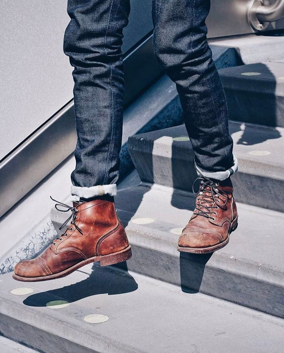 """The Denim Douche is part of Mens boots fashion - redwingshoestoreamsterdam """"Our dutch friend from the @levis nl store and @bluerootsofficial named @jeroenbredewold is an amazing Red Wing Shoe Store Amsterdam ambassador  We had to share his picture"""