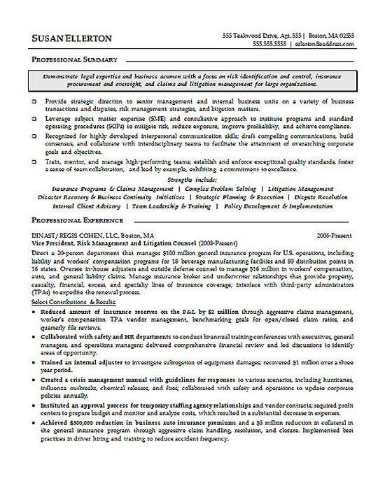 Litigation Attorney Resume Example Resume examples