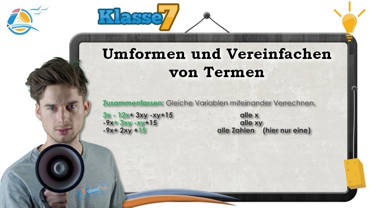 E Terme und Gleichungen    20 Umformen und Vereinfachen von Termen ...