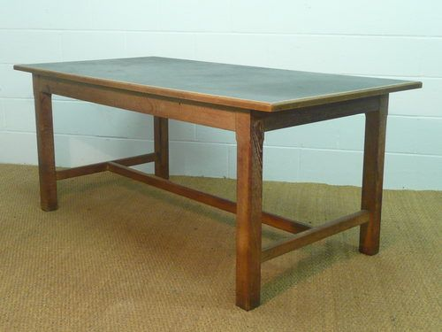 Heals Limed Oak Library Table Antique Heals Furniture