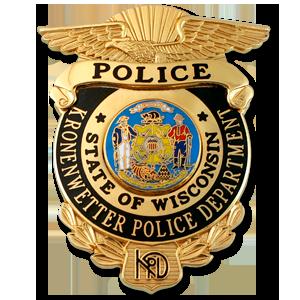 Kronenwetter Police Badge from symbol arts.   BADGES ...