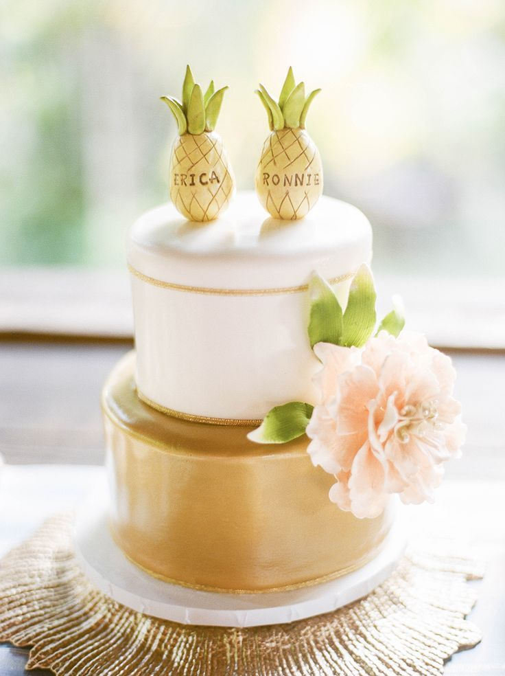 Destination Wedding In A Puerto Rican Rainforest Pineapple Cake - Pineapple Wedding Cake