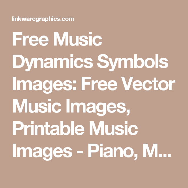 Free Music Dynamics Symbols Images Free Vector Music Images
