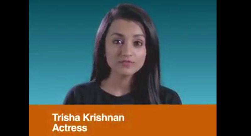 Actress Trisha Corona Awareness Video