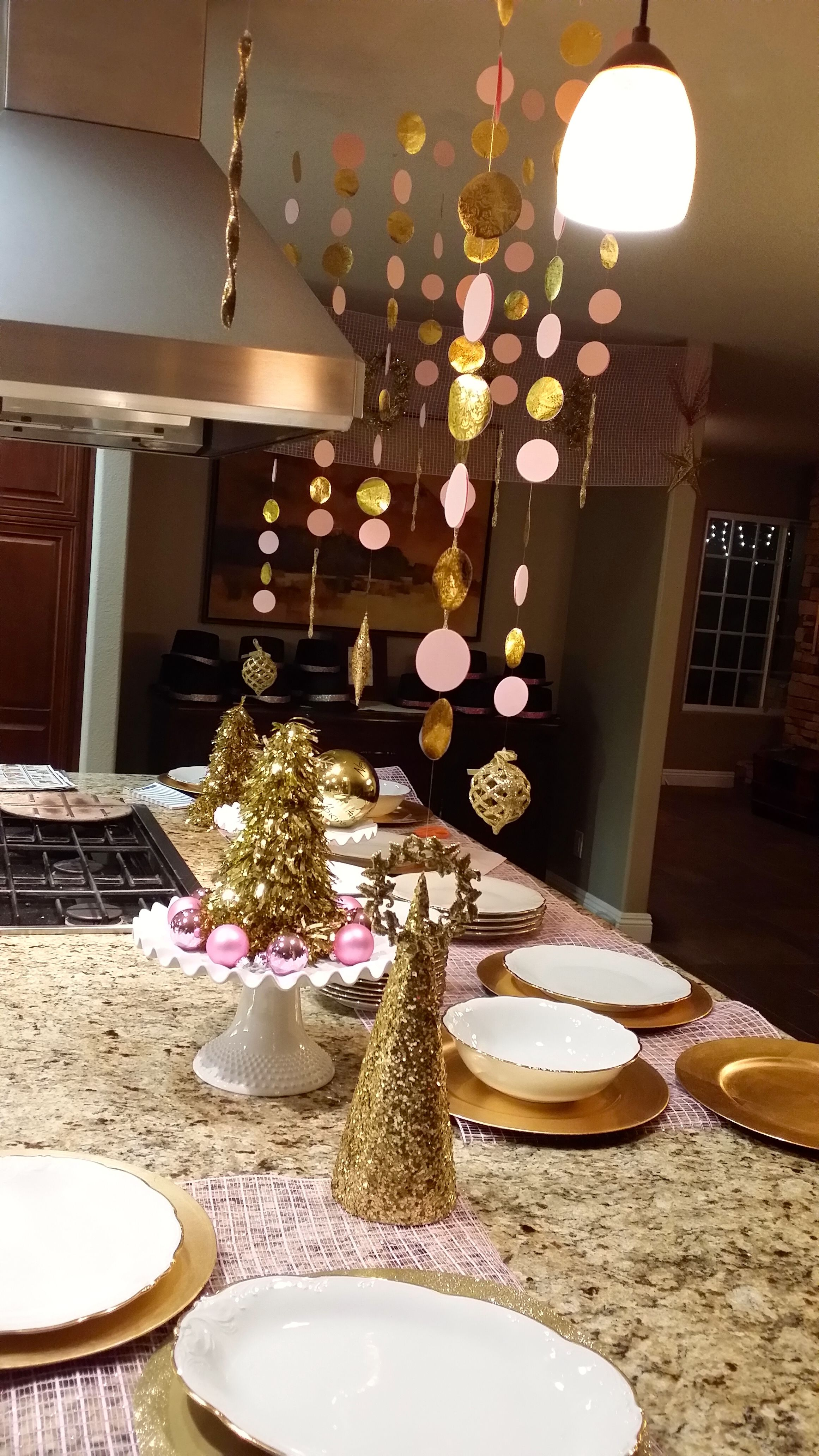 2014 Light Pink and Gold decor for New Years Eve - Made ...