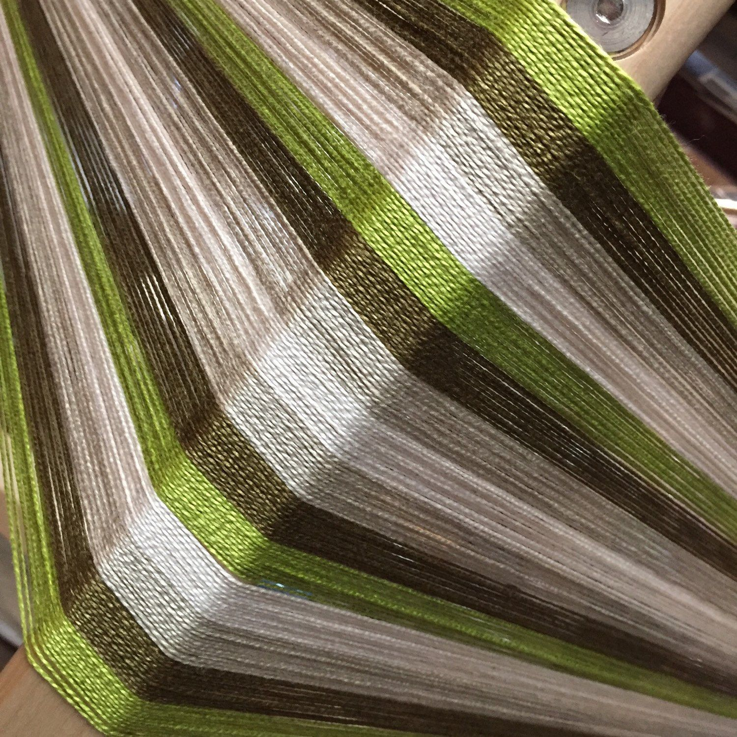 How about weaving with stripes of greenery, the color for 2017. Save time and money with this kit for weaving towels, placemats or a table runner. Our unique kits all have pre-wound warp and weft, ready for a floor, table or rigid heddle loom.