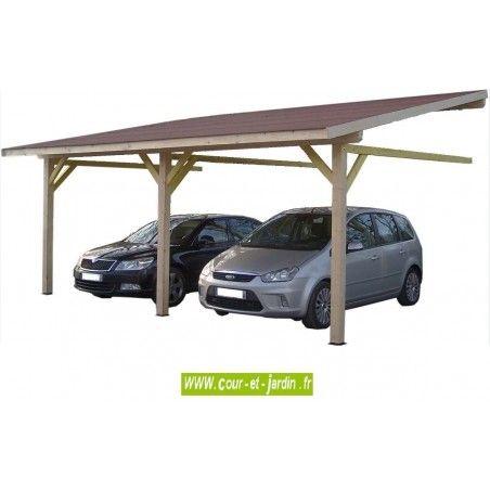 Auvent Mural Am4563bm Bois Carport Adosse Avec Couverture De 4 5m X 6 32m Carport 2 Voitures Carport Bois Carport Adosse Auvent Bois