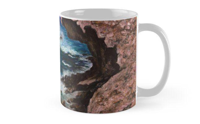 Aruba Coastline Acrylic Painting By Dede Conrad Painted Mugs Mugs Art Prints