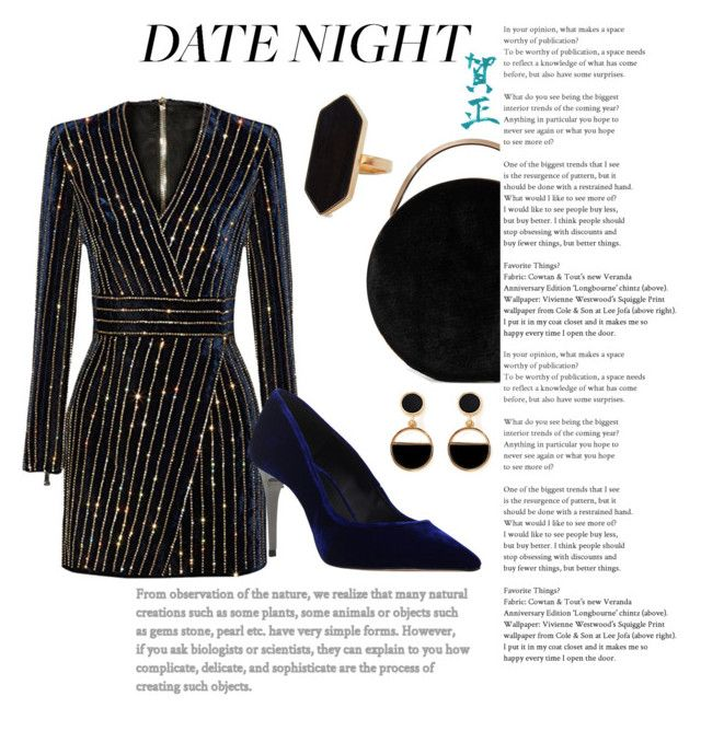 """""""Date Night"""" by daisslovebeauty on Polyvore featuring Carvela, Eddie Borgo, Warehouse and Jaeger"""