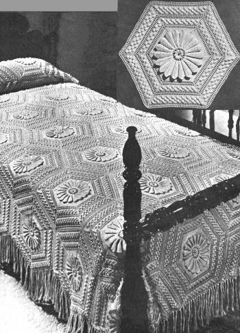 Octagon Blocks Motif Bedspread Vintage Crochet Pattern for download ...