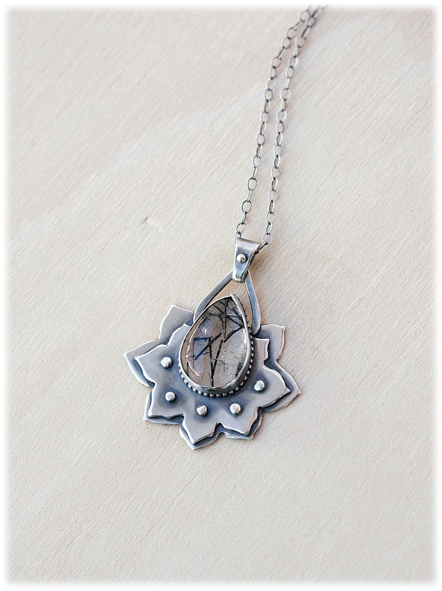 Lotus Flower Necklace Lotus Necklace Sterling Silver Lotus