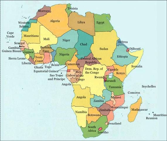names of all the african countries - WOW - Image Results All - copy world map africa continent