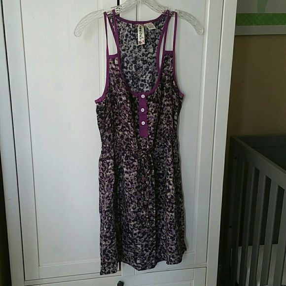 Mimi Chica Purple Print Dress Very cute for the Summer. With pockets. Great condition. Worn a few times. Mimi Chica Dresses