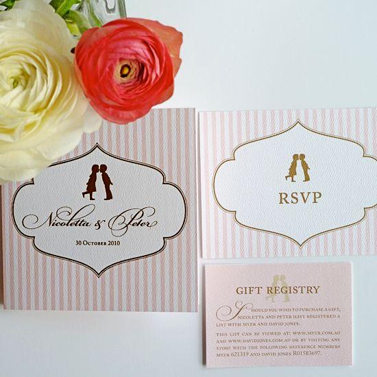 Cute wedding invite stationary