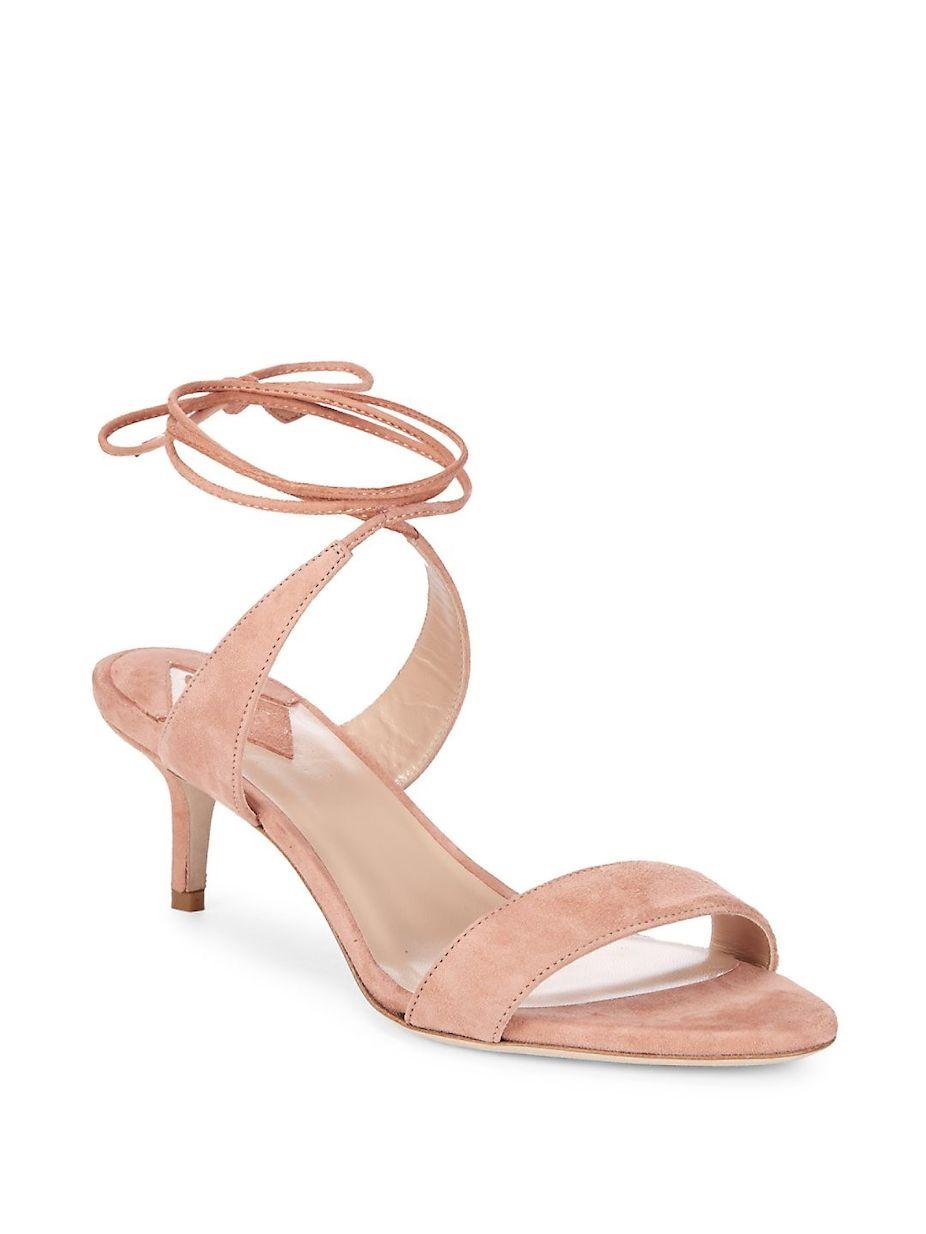 0c5836e28 Aperlai Ankle Wrap Kitten Heel Sandals