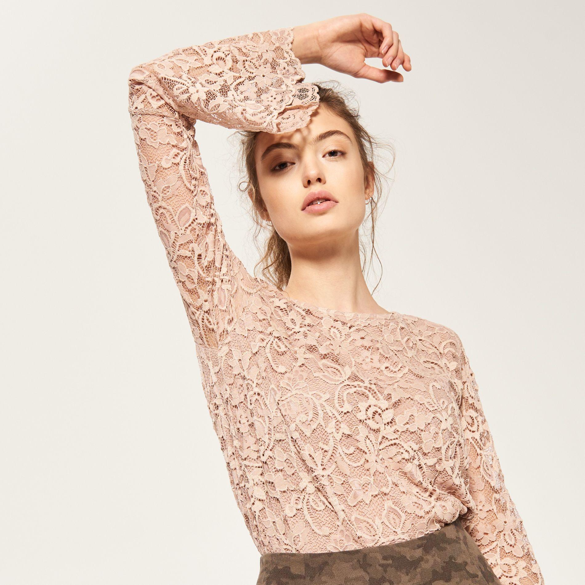 Koronkowa Bluzka Reserved Qn662 03x Lace Blouse Fashion Clothes