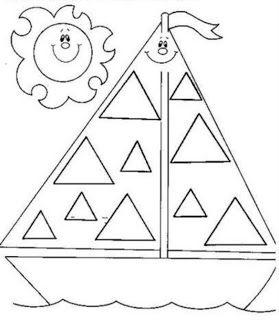 Cantinho De Desenhos Desenhos Com Figuras Geometricas Com